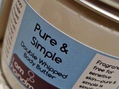 Double Whipped Body Butter Pure Simple, Whipped Body Butter, Natural Cosmetics, Sensitive Skin, Competition, Irish, Pure Products, Body Butter, Irish People