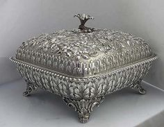 Caldwell Antique Sterling Silver Covered Vegetable Tureen