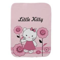 #Little Kitty Baby Burp Cloth - #giftideas for #kids #babies #children #gifts #giftidea