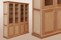 Ash Hardwood Timber Library Display Case