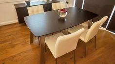 Assi Wenge Dark Wood Extending Dining Table £332.00