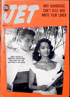 Why Dorothy Dandridge Can't Kiss Her White Film Lover - Jet Magazine, December 13, 1956 by vieilles_annonces, via Flickr
