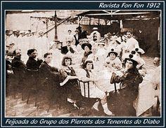 Rio de Janeiro de Hontem!: Grupo dos Pierrots do Club Tenentes do Diabo em 19...