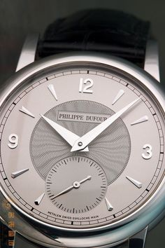 Philippe Dufour Simplicity dial closeup - it took Mr Dufour 12 years to make 200 pieces!!
