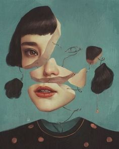 Psychotische Kunst: Aykut Aydoğdu – Yasmin Fashions – The World Art Inspo, Kunst Inspo, Inspiration Art, Art And Illustration, Magazine Illustration, Art Sketches, Art Drawings, Fine Art Drawing, Painting Art