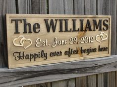 DIY name signs | DIY that i want to DIM / Personalized Family Name Sign CARVED Last by ...