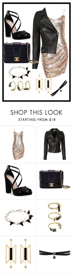 """Looking fancy in the bar"" by sassievanrobays ❤ liked on Polyvore featuring IRO, Nina, Chanel, Joomi Lim, Noir Jewelry, Natama Design and Fallon"