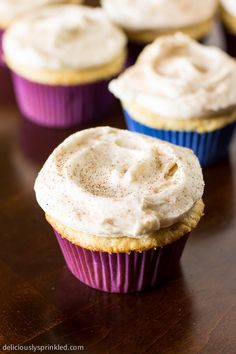 "Snickerdoodle Cupcakes   ""These Look Amazing .,Yummy and Delicious!"" ."