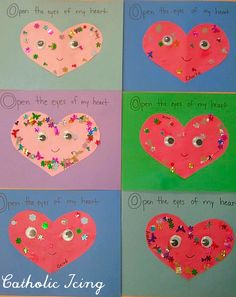 Christian Craft For St. Valentine's Day- Open The Eyes Of My Heart, Lord!