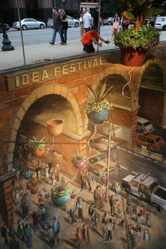 Three dimensional street art is über cool. Admit it, it took everyone a while to realise that it was flat.
