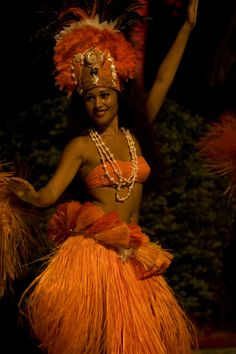 Tahitian Woman Dancing at Heiva I Tahiti