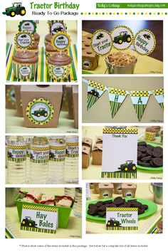 Tractor Birthday Party Ready To Go Package, Instant Download, Printable DIY Package