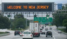 New Jersey. Love it when I see this sign its makes me so happy to be back.
