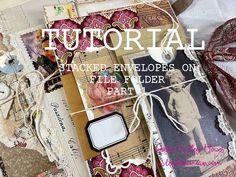 Stacked Envelope File Folder| tutorial, craft along, diy junk journals - YouTube Journal Paper, Junk Journal, Art Journals, Envelope Book, Robin, Journal Inspiration, Journal Ideas, Handmade Journals, Journal Notebook