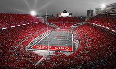 Sports Photographs - A Scarlet Stage  by Kenneth Krolikowski #art #ohio #ohiostate #football