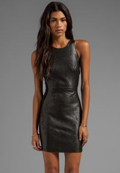 Dolce Vita Begonia Lazer Cut Leather Dress in Black from REVOLVEclothing.com