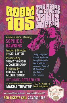 CLICK THROUGH for Event & Ticketing info, #LAmusic, #LAThtr, $34.99, Events, Janis Joplin, Josh Sklair, Live Music, Los Angeles, MACHA Theatre, ROOM 105, Singing, Sophie B. Hawkins, Theater, Thomas Hampton Reviews