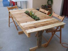 Succulent Patio Table by Theatricalities on Etsy, $250.00