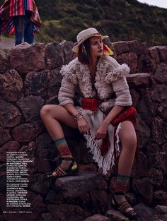 Boho Peru-Inspired Editorials : Catherine McNeil Vogue Russia
