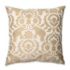 Pillow Perfect Babar Elephant Sand Throw Pillow | Overstock™ Shopping - Great Deals on Pillow Perfect Throw Pillows