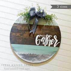 Best Garden Decorations Tips and Tricks You Need to Know - Modern Wooden Door Signs, Wood Signs Home Decor, Wooden Door Hangers, Diy Wood Signs, Painted Wood Signs, Pallet Signs, Gather Wood Sign, Thanksgiving Signs, Wood Circles