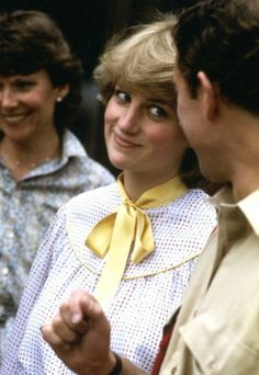 1981-07-24 Diana gives Charles a teasing smile during their visit to Tidworth