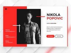 vCard - Minimal Design by Nikola Popovic