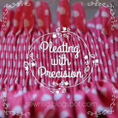 Pleating with Precision video tutorial, excellent!