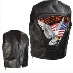 This classic hand-sewn leather motorcycle vest is the symbol of a rebellious road warrior. It is made out of the toughest leather with an ultra-soft finish. When you wear this vest, you will instantly give off a classic rebellious vibe while showing your style the world. The fit and finish are exactly like you would want of any classic. Motorcycle Leather Vest, Classic Motorcycle, Motorcycle Jackets, Leather Men, Black Leather, Leather Jackets, Cycling Vest, Clothing Patches, Skull Jewelry