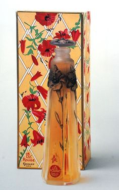 1918 gueldy- le lys rouge perfume bottle