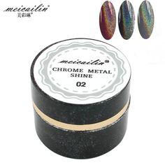 New 3g Laser Silver Shiny Powder Magic Mirror Powder Dust Nail Glitters DIY Nail Art Sequins Chrome Pigment Nails Glitter Powder