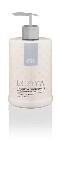 ECOYA Hand & Body Lotion - Coconut & Elderflower  http://www.ecoya.com/