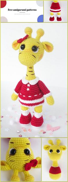 We share the amigurumi giraffe pattern for free. You can visit our website for new patterns. Crochet Giraffe Pattern, Crochet Patterns Amigurumi, Animal Knitting Patterns, Stuffed Animal Patterns, Half Double Crochet, Single Crochet, Stuffed Animals, Cute Crochet, Crochet Hats