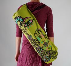 A personal favorite from my Etsy shop https://www.etsy.com/listing/245802023/sale-yoga-mat-bag-vibrant-colorful-apple