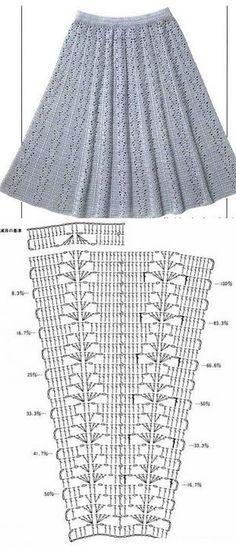 El esquema de la falda por el gancho // Галина Дюковва