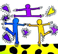 Artsonia Art Museum :: Artwork by Keith Haring Keith Haring Art, Arts Ed, Art Portfolio, Art Activities, Artist Art, American Artists, Figure Drawing, Art Education, Art Museum