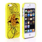 Bracevor Yellow Floral design back case cover for iPhone 5 5s for your bold expressive self!