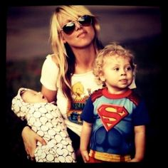 Note to self: I want to be a cool mom like this, rockin' a Sesame Street tee!