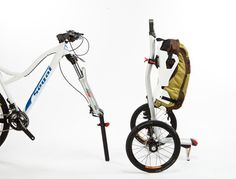 Transform your bike into a cargo-lugging machine with the farcically titled S-cargo carrier.   This removes the worry of the front wheel theft - as well as gives you a carrier to go shopping and such - Brilliant.