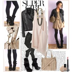 This is something I would definitely wear during the transition to summer. It's hard for me to give up my boots lol. And the jacket can be warn on those chilly after dinner nights.