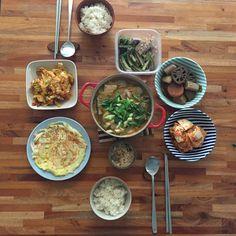 Today Breakfast, Korean food, morning meal, kimchi