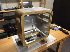 Post with 3577 votes and 135568 views. Shared by LouisVW. I made a pc out of wood [PART Diy Computer Case, Gaming Computer Setup, Gaming Room Setup, Build A Pc, Gaming Pc Build, Diy Pc, Diy Amplifier, Aluminum Uses, Diy Laptop
