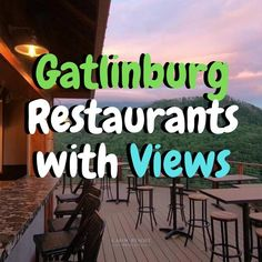 Gatlinburg, Tennessee is well known for its delicious dining establishments. These are the restaurants in Gatlinburg with the best views offering up some mouth-watering meals. Gatlinburg Restaurants, Gatlinburg Vacation, Tennessee Vacation, Vacation Trips, Vacation Spots, Vacation Ideas, Tennessee Hiking, Cabins In Gatlinburg Tn, Pigeon Forge Tennessee