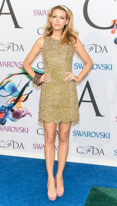 In a Michael Kors dress and Casadei shoes at the 2014 CFDA Fashion Awards in 2014. See all of Blake Lively's best looks.