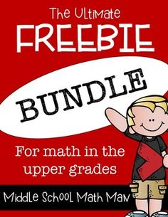 This FREEBIE Bundle includes all current and future free products from my TpT Store! Lots of great math center activities, math games, and projects for math in the upper elementary and middle school grades!
