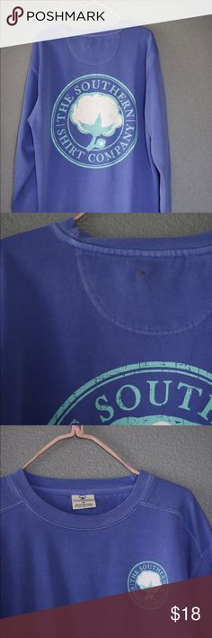 The southern shirt company blue sweatshirt Comfy and super soft. Not worn more than a couple times but there is a small spot on the top back. the southern shirt company Tops Sweatshirts & Hoodies