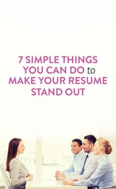 Simple Ways To Make Your Résumé Super Strong tips for improving your resume & getting a great jobtips for improving your resume & getting a great job Career Help, Career Success, Career Advice, Job Career, Career Ideas, Resume Advice, Resume Writing Tips, Resume Ideas, Resume Help