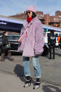 Eva Chen is seen on the street attending Coach 1941 during New York Fashion Week wearing Coach on February 13 2018 in New York City