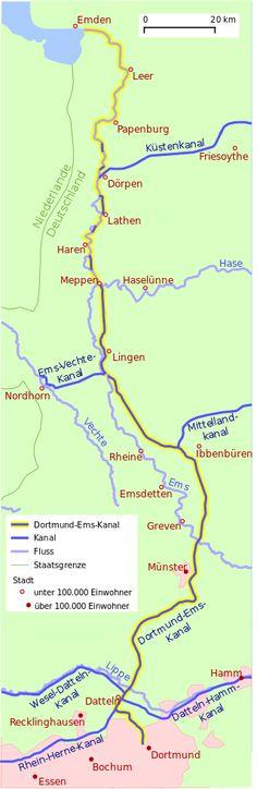 Übersichtskarte des Kanals