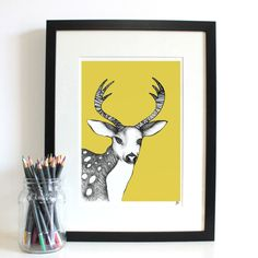 Spring Fawn Art Print by Jessica Wilde 2015 ©